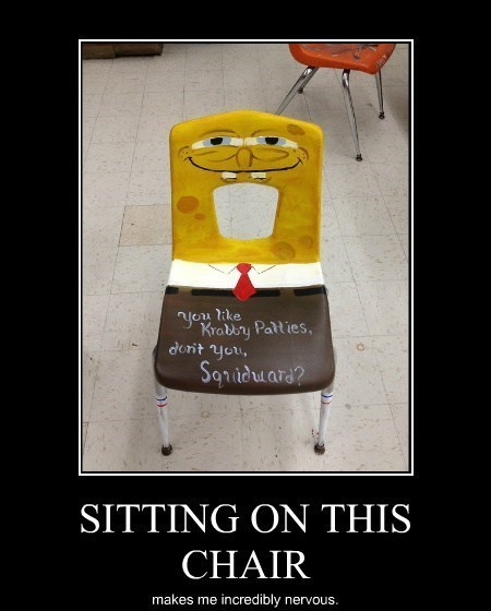 chair creepy SpongeBob SquarePants funny - 8026654208