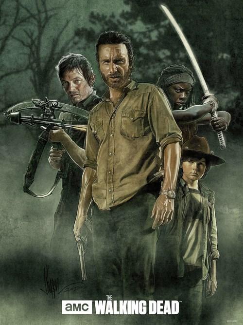 Rick Grimes Fan Art daryl dixon michonne The Walking Dead - 8026705664
