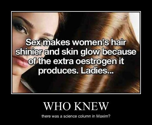 hair science idiots sexy times funny women - 8026718464