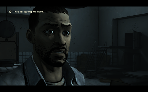 lee will remember that,lee everett,walking dead game,amputation