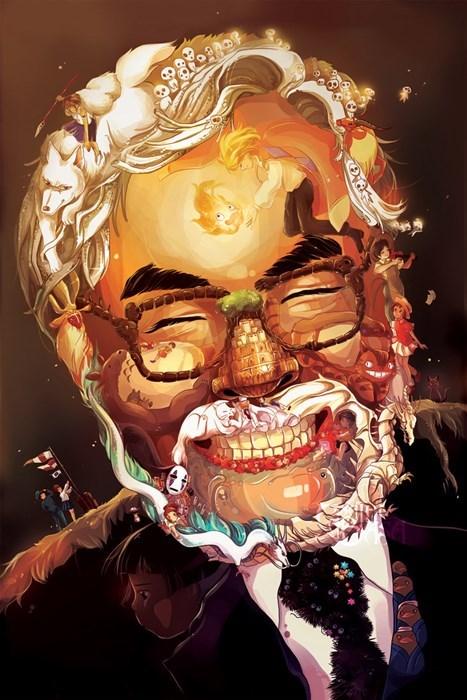 Fan Art Hayao Miyazaki studio ghibli - 8026786816
