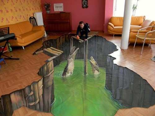 chalk art perspective illusion - 8026818560
