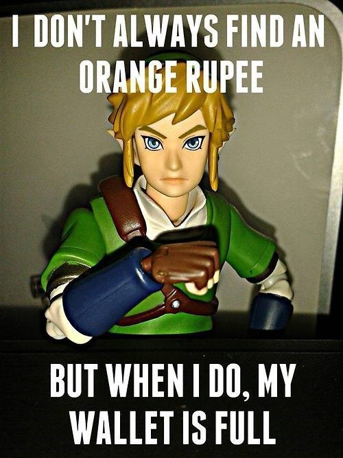 link wallet is full zelda - 8026838272
