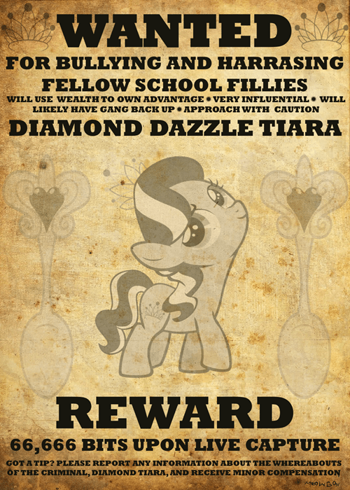 diamond tiara wanted poster MLP - 8026865152