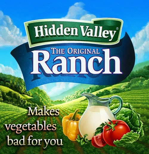 Natural foods - Hidden Valley Ranch THE ORIGINAL Makes vegetables bad for you