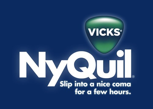 Logo - VICKS NyQuil UI Slip into a nice coma for a few hours.