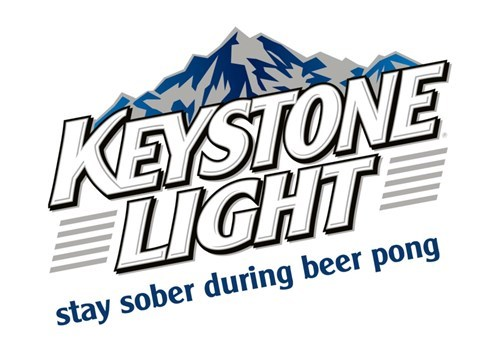 Logo - KEYSTONE LIGHT stay sober during beer pong