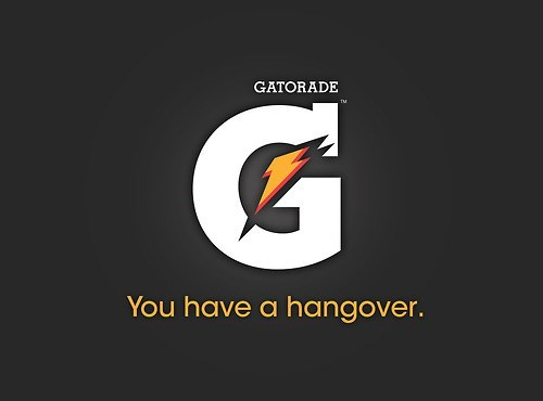 Logo - GATORADE G You have a hangover.