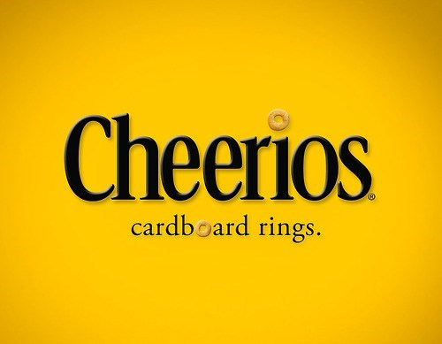 Text - Cheerios cardboard rings