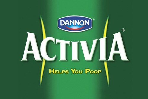 Green - DANNON ACTIVIA HELPS YOU PoOP