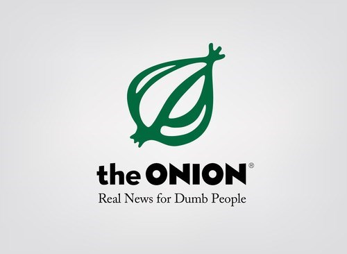 Logo - the ONION Real News for Dumb People