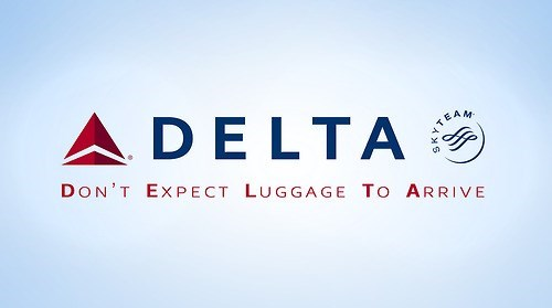 Logo - DELTA TEAM DON'T EXPECT LUGGAGE TO ARRIVE