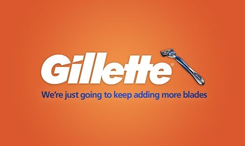 Orange - Gillette We're just going to keep adding more blades