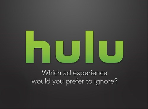 Text - hulu Which ad experience would you prefer to ignore?