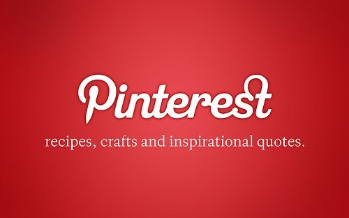 Text - Pinterest recipes, crafts and inspirational quotes.