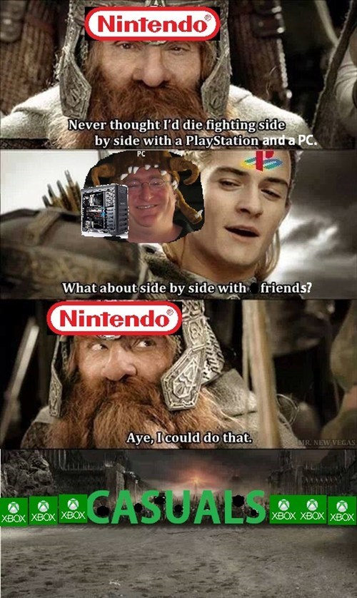 steam,legolas,gaben,nintendo,xbox one