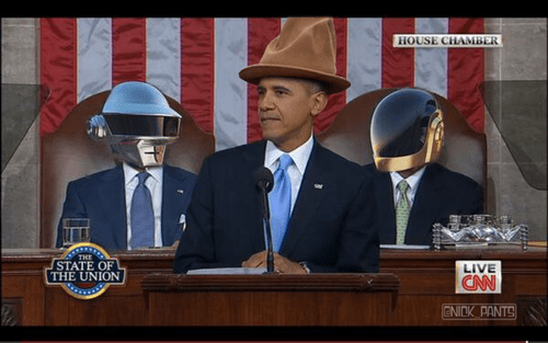 pharrell,barack obama,daft punk,state of the union,joe biden