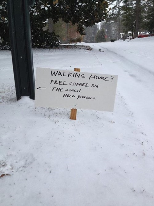 free stuff,snow,sign