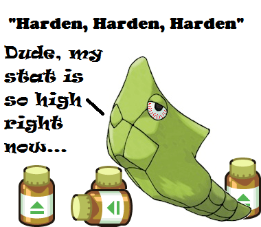 harden,Pokémon,metapod,defense