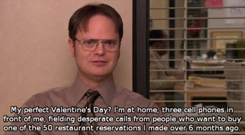 dwight,the office,Valentines day,suckers