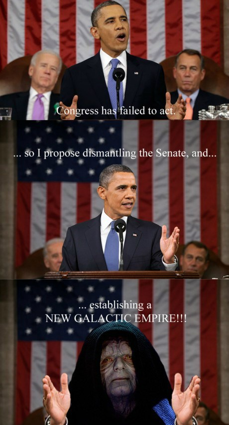 barack obama,Emperor Palpatine,star wars,SOTU,obama,state of the union