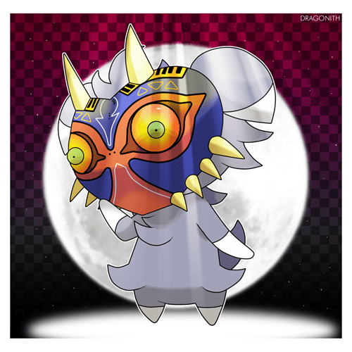 crossover Fan Art Pokémon majoras mask zelda espurr