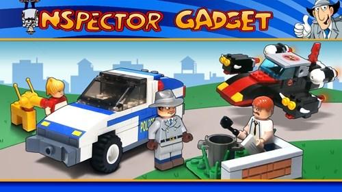 inspector gadget,lego,1980s