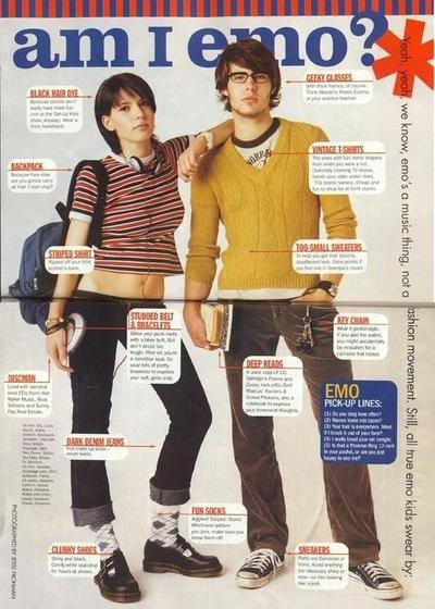 nineties poorly dressed emo magazines g rated