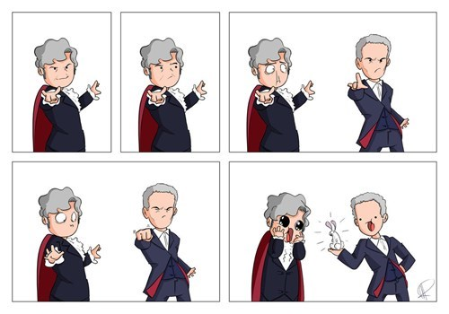 classic who 12th Doctor magician webcomics - 8029862912