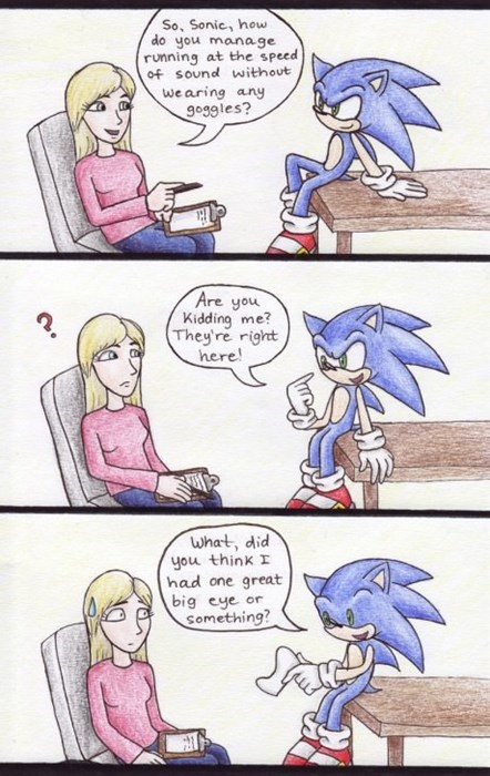 gotta go fast sonic the hedgehog sonic web comics - 8029912576