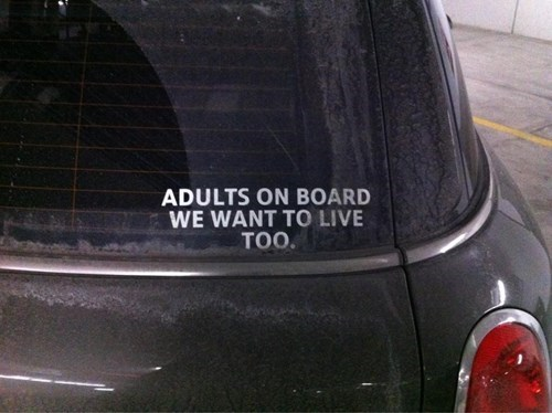 kids cars parenting bumper stickers