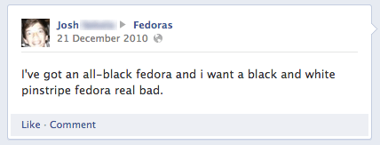 poorly dressed,facebook,fedoras,g rated