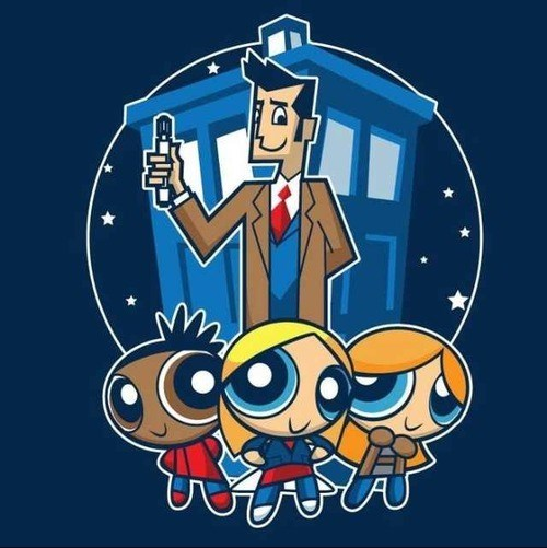 powerpuff girls tshirts doctor who 10th doctor - 8030033664
