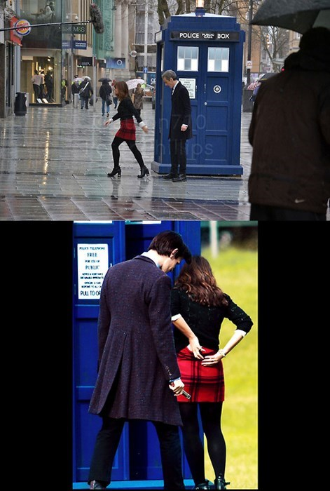 12th Doctor 11th Doctor caught red-handed clara oswald