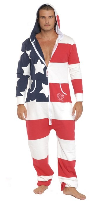 American Flag patriotic poorly dressed onesies