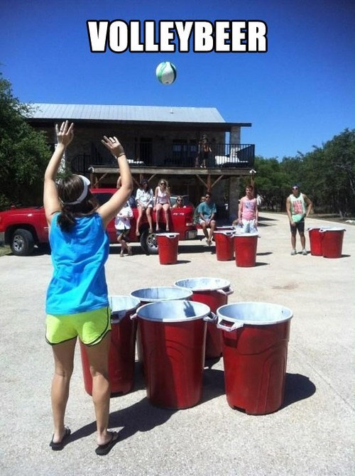 volleyball,beer pong,volleybeer,college,drinking games