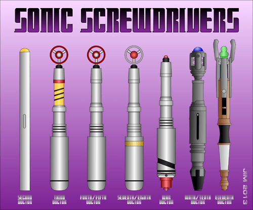 classic who sonic screwdriver 11th Doctor 9th doctor - 8030182656