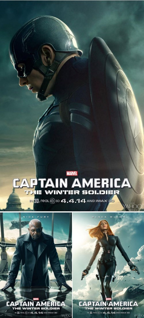Nick Fury,Black Widow,movie posters,winter soldier,captain america
