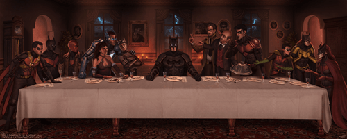 last supper Fan Art batman - 8030256896