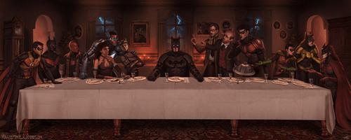last supper,Fan Art,batman