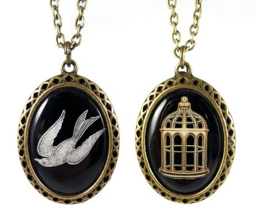 necklace bioshock infinite etsy cage songbird - 8030298624