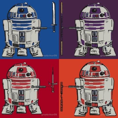 r2d2 mashup star wars TMNT tshirts - 8030318592