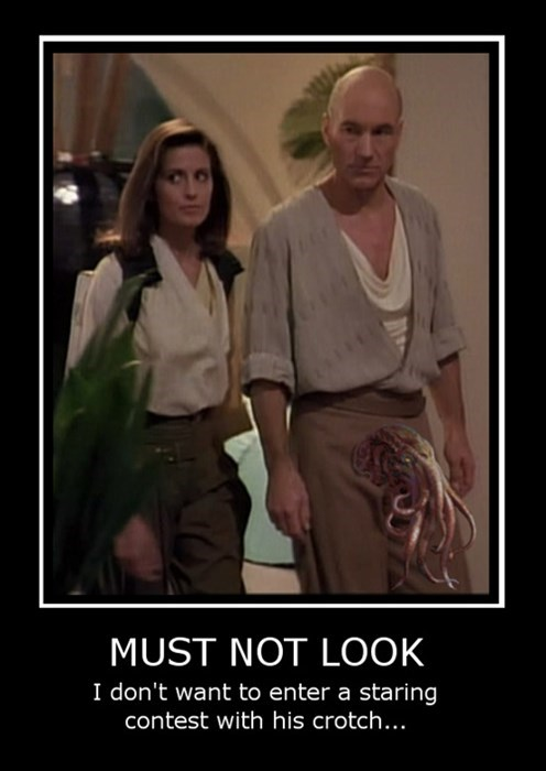 wtf Captain Picard Star Trek cthulhu funny - 8030377216