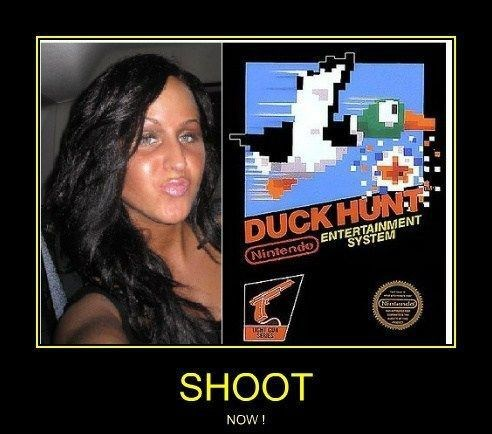 duck face duck hunt video games funny - 8030405632