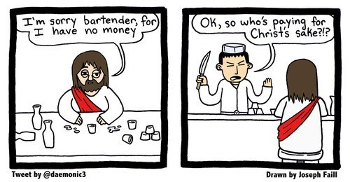 sake,jesus christ,puns,wine,web comics