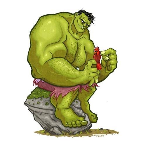 Hulk protect little friend...