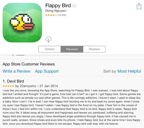 apps reviews mobile games flappy bird - 8030538240