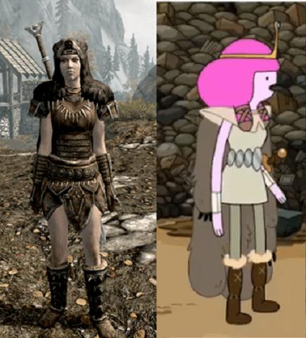 crossover cartoons Skyrim adventure time - 8031102464