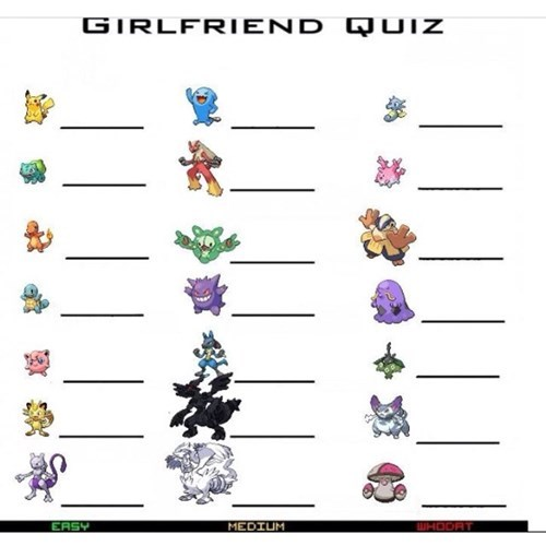 Pokémon girlfriend quiz Valentines day - 8031439616