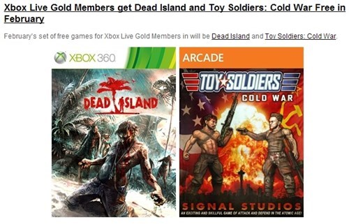 Dead Island toy soldiers games with gold Video Game Coverage - 8031464192